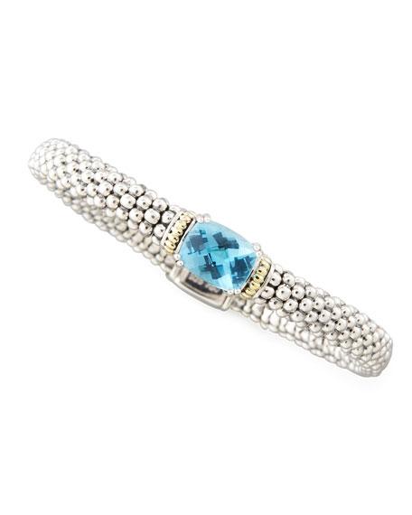 Blue Topaz Prism Caviar Bracelet