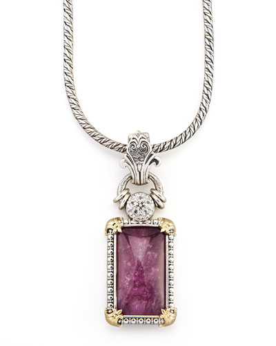 Konstantino Rectangle Sapphire & Ruby Enhancer