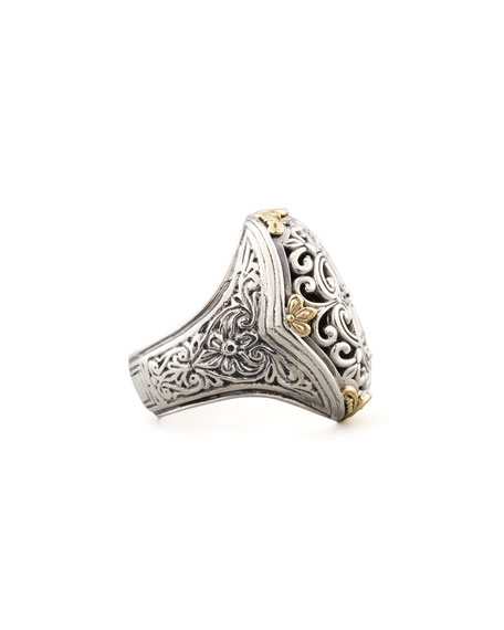 S/G FILIGREE RING