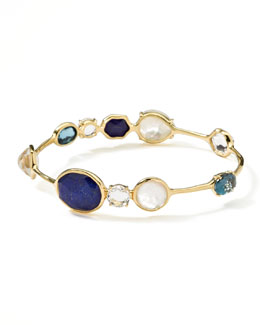 Ippolita 18k Gold Rock Candy Open Gelato Kiss Bangle, Corsica