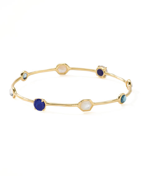 18k Gold Rock Candy Gelato 8-Stone Bangle, Corsica
