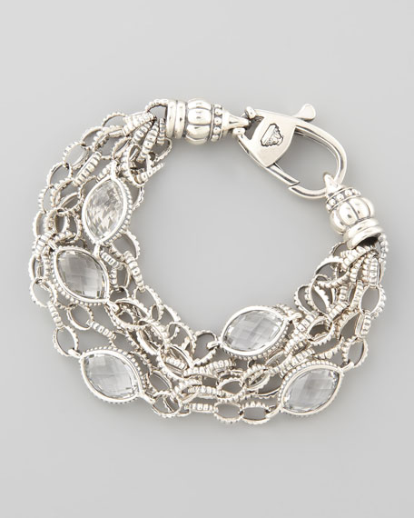 Venus Rock Crystal Station Bracelet