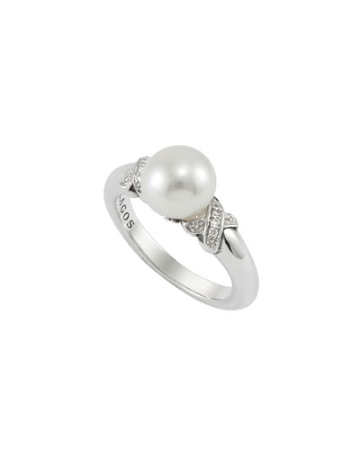 Lagos Luna Pearl & Diamond Ring