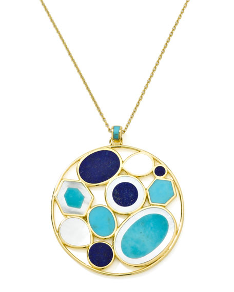 Polished Rock Candy Multi-Stone Pendant Necklace