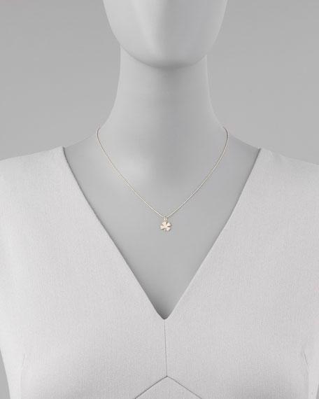 Small Diamond Clover Pendant Necklace