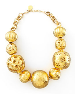Devon Leigh Golden Ball Necklace