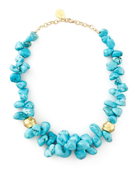 Turquoise Cluster Beaded Necklace