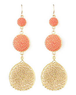 Devon Leigh Pave Crystal & Web Drop Earrings