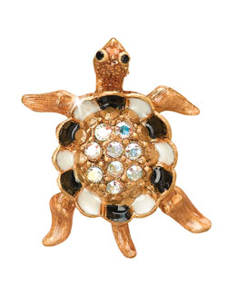 Jay Strongwater Turtle with Pave Shell Tack Pin