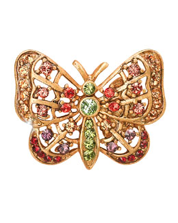 Jay Strongwater Multicolor Butterfly Tack Pin