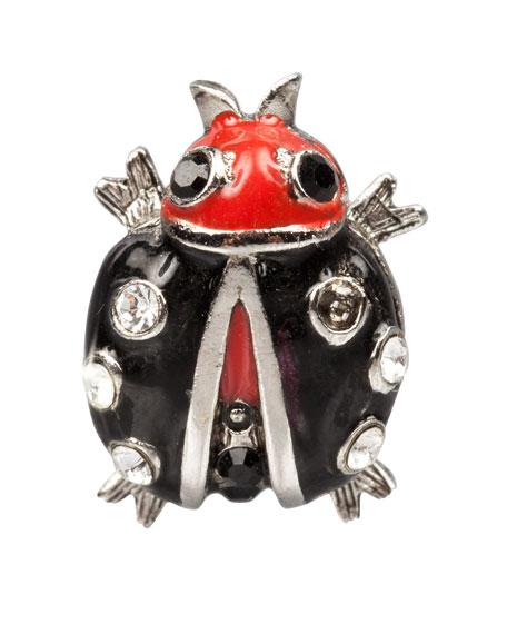 Black Ladybug Tack Pin