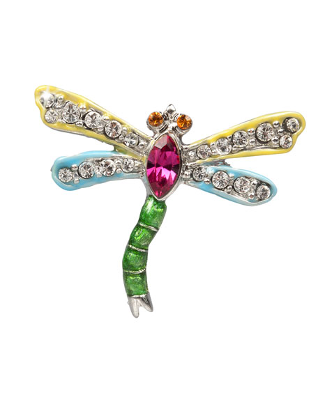 Yellow & Blue Dragonfly Pin