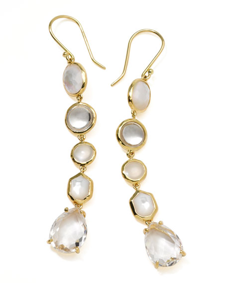 18k Gold Rock Candy Gelato 5-Tier Drop Earrings, Flirt