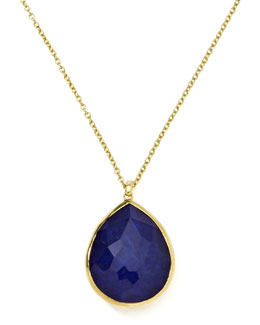 Ippolita 18k Gold Rock Candy Gelato Large Lapis Teardrop Pendant Necklace