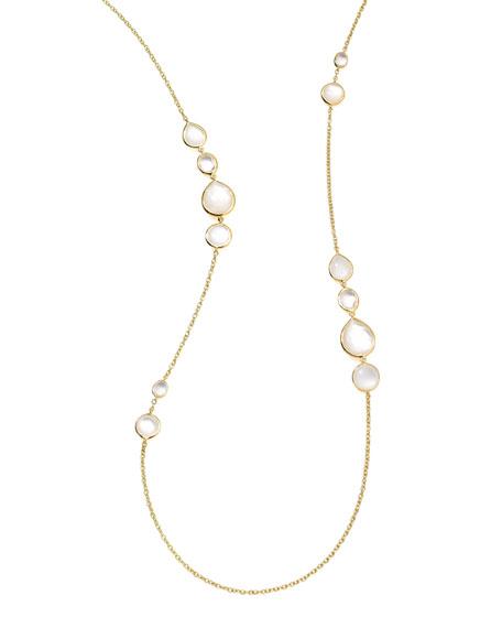 18k Gold Rock Candy Long Gelato Station Necklace, Flirt