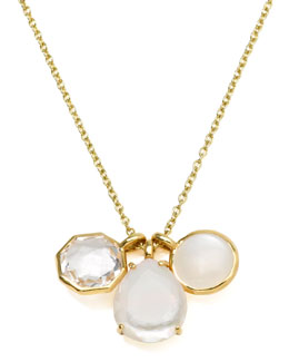 Ippolita 18k Gold Rock Candy Gelato 3 Mini Pendant Necklace, Flirt
