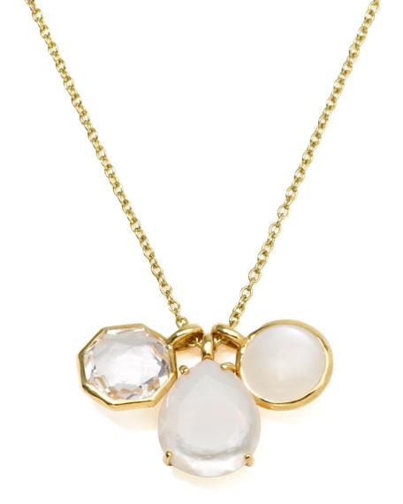 18k Gold Rock Candy Gelato 3 Mini Pendant Necklace, Flirt