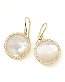 Ippolita Rock Candy 18k Gold Lollipop Diamond Earrings, Mother-of-Pearl