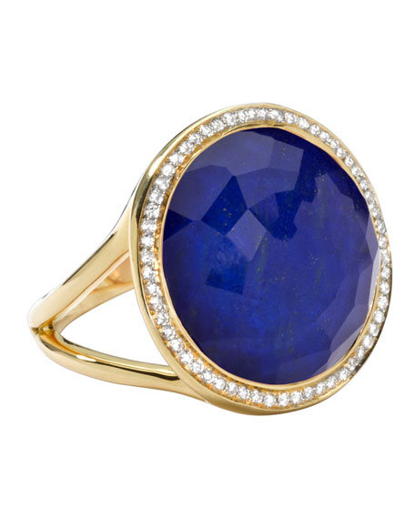Rock Candy Small Lollipop Diamond Lapis Ring