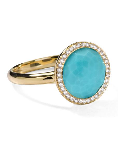 Rock Candy Mini Lollipop Diamond Turquoise Ring