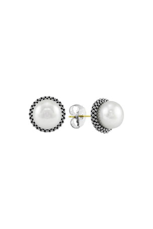 Lagos 8.5mm Pearl Caviar Earrings