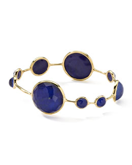 Ippolita 18k Gold Rock Candy Lapis Bangle