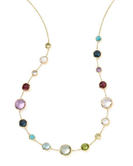 "Ippolita 18k Gold Lollitini Multi-Stone Necklace, 18""L"