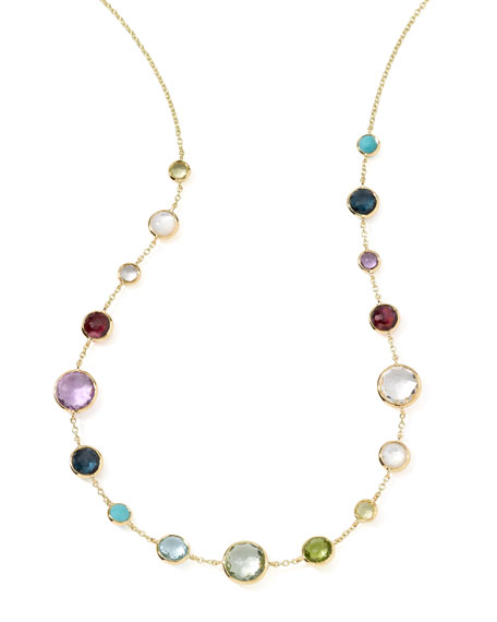 Ippolita 18k Gold Lollitini Multi-Stone Necklace, 18
