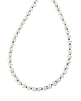 "Lagos Pearl Necklace, 18""L"