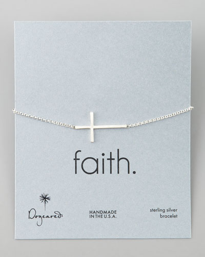 Silver Integrated Large Cross Bracelet