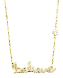 SHY by Sydney Evan Believe Pendant Bezel Diamond Necklace
