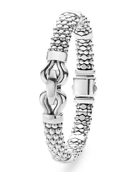 Sterling Silver Rope Bit Bracelet, 9mm