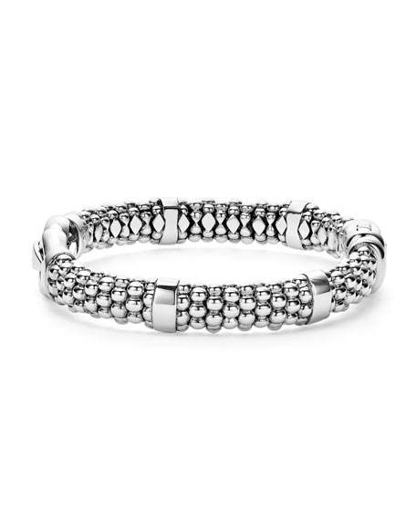 Sterling Silver Rope Bit Bracelet, 9mm