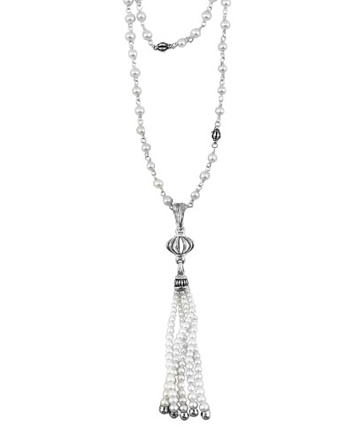 Lagos Luna Pearl-Tassel Necklace