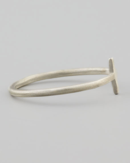 Silver Faith Small Cross Ring