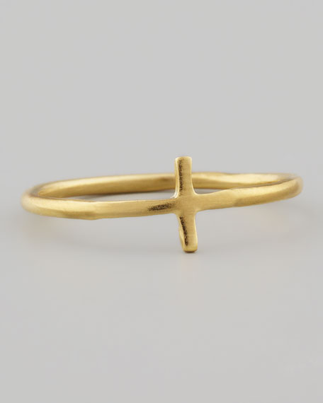 Golden Faith Cross Ring
