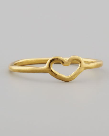 Golden Open Heart Ring