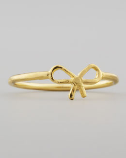 Dogeared Small Gold-Dipped Bow Ring