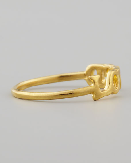 Golden Loved Ring