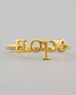 Dogeared Golden Hope Ring