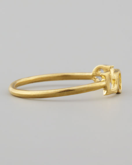 Small Gold-Dipped Love Ring