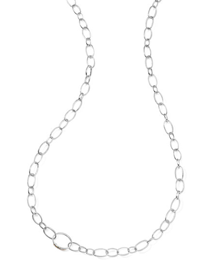 """Sterling Silver Smooth Chain Necklace, 48""""L"""