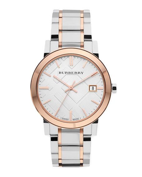 Burberry Rose Golden Check Watch