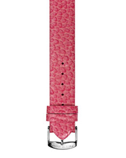 Philip Stein 20mm Large Grainy Calfskin Strap, Coral