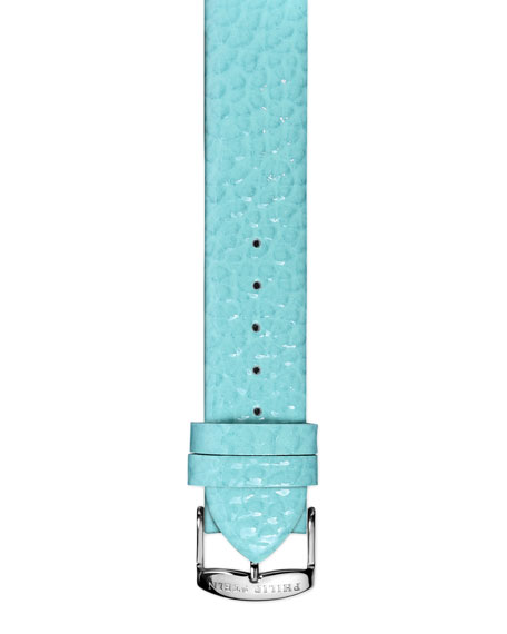 20mm Large Grainy Calfskin Strap, Turquoise