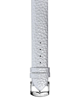 Philip Stein 20mm Large Grainy Calfskin Strap, Platinum
