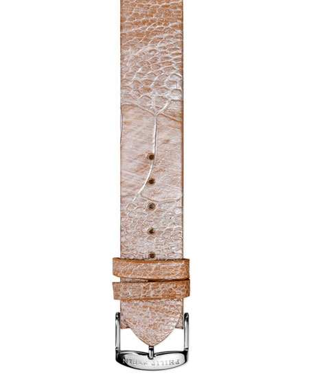 20mm Large Ostrich Strap, Champagne