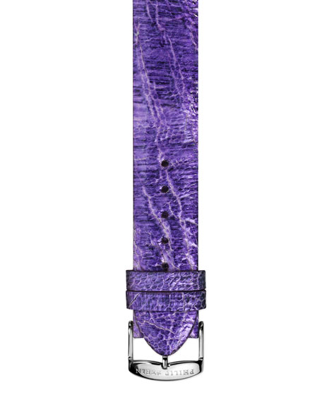 18mm Small Ostrich Strap, Light Purple