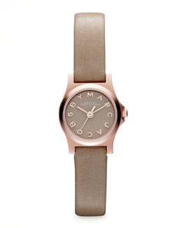 MARC by Marc Jacobs Enamel Dial Rose Golden Watch, Gingersnap