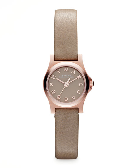 Enamel Dial Rose Golden Watch, Gingersnap